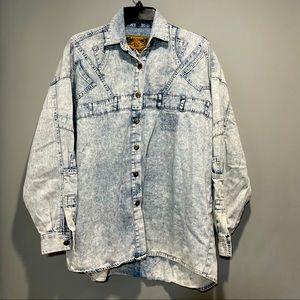 Vintage Express  jean shirt bottom down for women